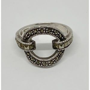 Sterling Silver Marcasite Ring 6.75